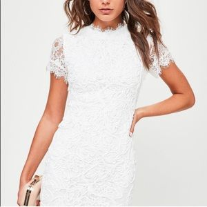 Missguided white dress lace
